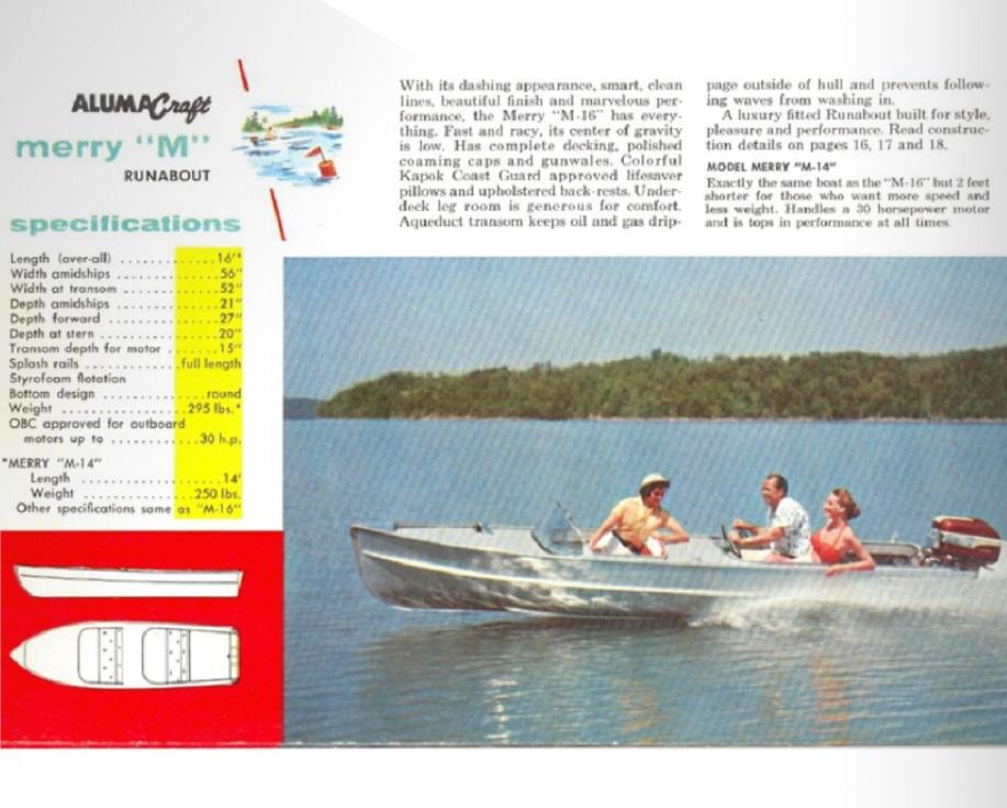 Alumacraft Merry M 1956